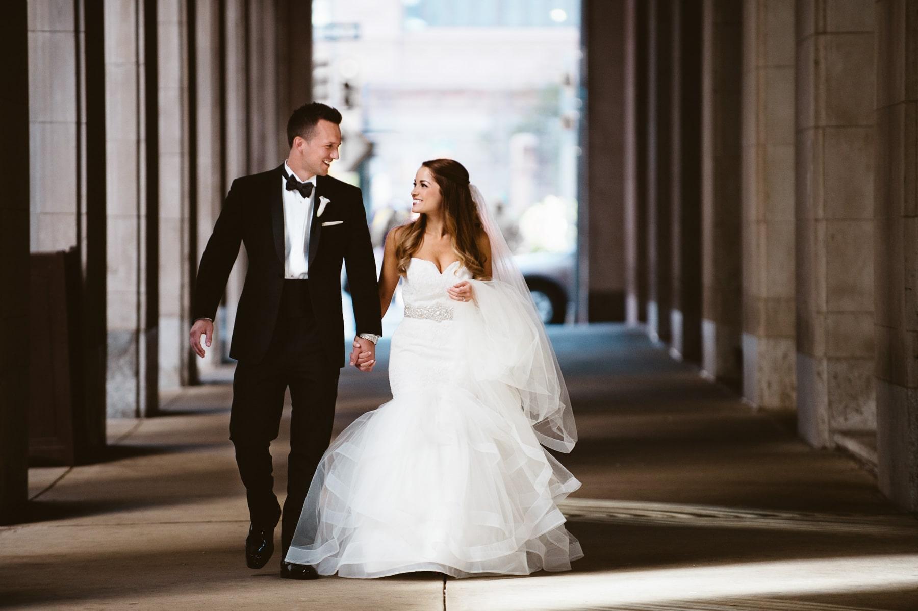 bride-groom-walking at wedding in Philadelphia