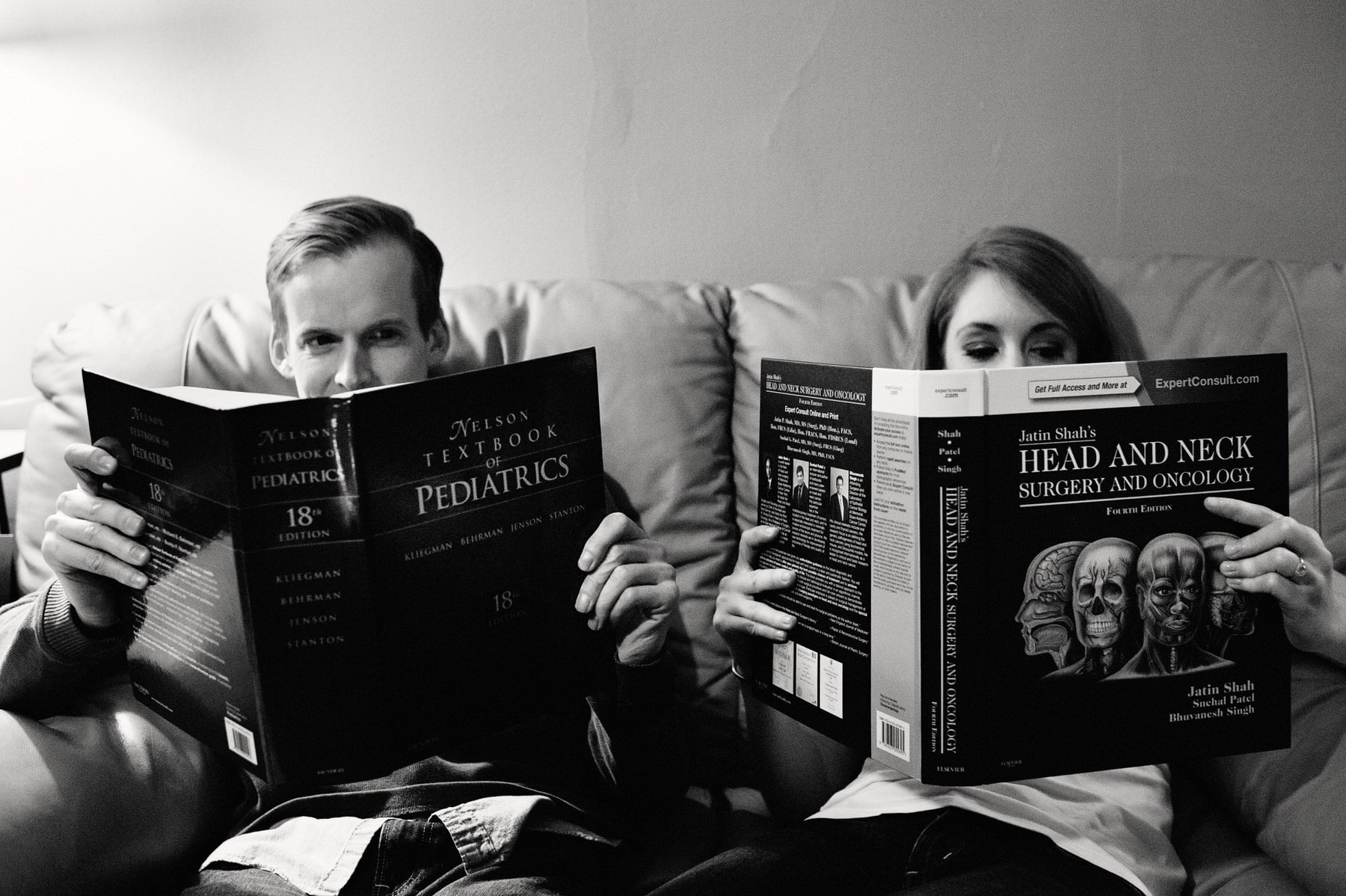 Philadelphia engagement session photo behind books
